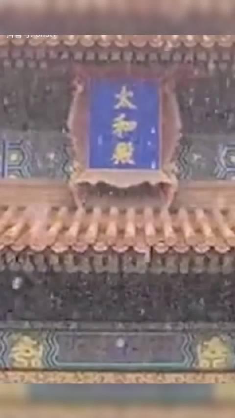 啦!漫天的雪配上故宫的红,看多少次都看不够!(中国新闻网)