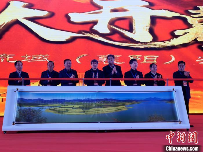 第六届汉江流域农业博览会开幕式现场 胡传林 摄