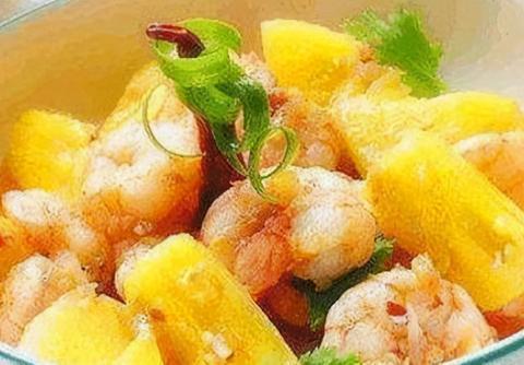 简易家常菜:炒猪肝,菠萝虾球,芝麻青笋