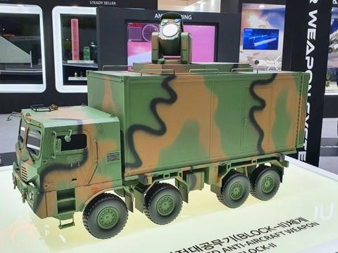 韩国韩华展示激光武器系统模型