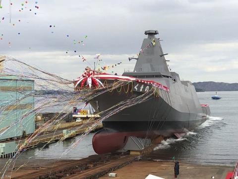 日本海上自卫队下水首艘3900吨级多用途护卫舰