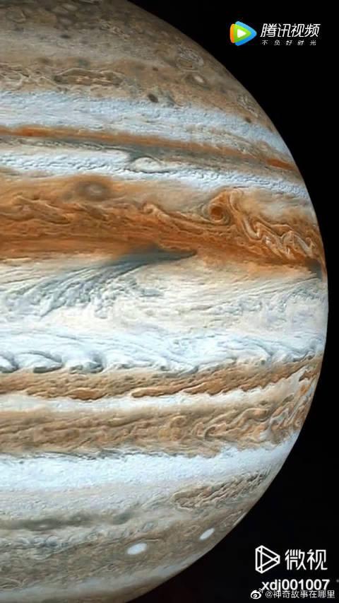 木星特写! 木星太阳系八大行星之一、属于气态巨行星!