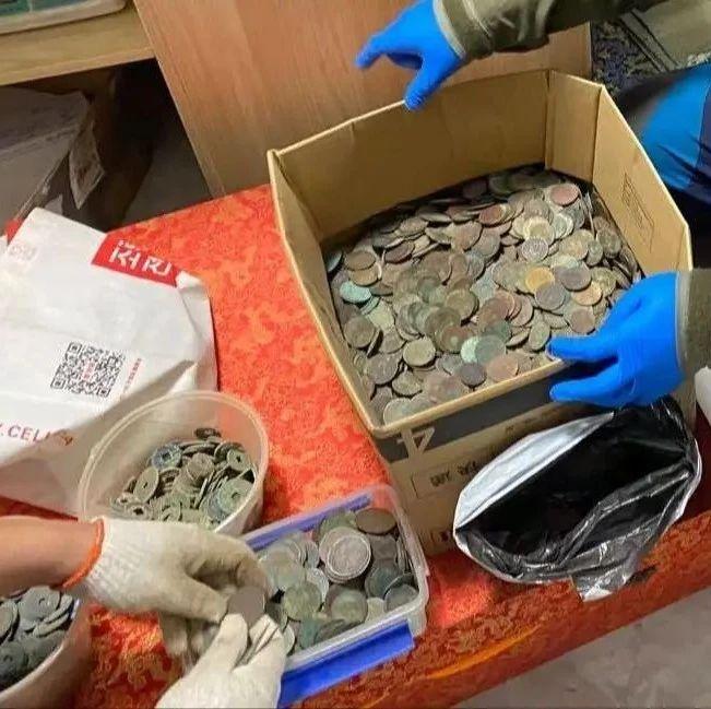 沈阳警方收缴古钱币2500余公斤!现场曝光……