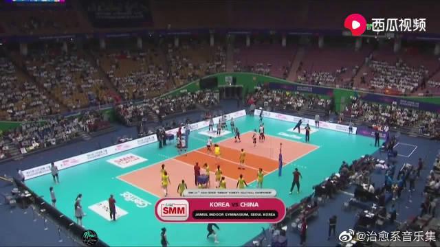 比赛集锦:女排亚锦赛铜牌战,中国女排 VS 韩国女排