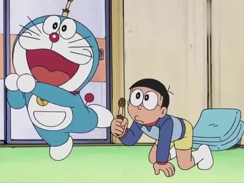 哆啦A梦:大雄是要cos团藏吗,和团藏一样的绷带,还遮个眼睛