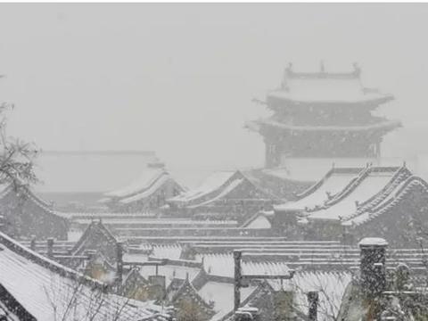 忻州首场大雪如约而至,五台山、古城、芦芽山美翻了