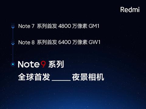 Redmi Note9全球首发三星HM2,卢伟冰写下这样一段话