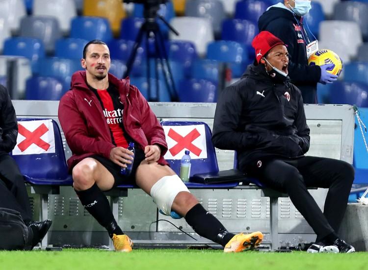伊布左大腿屈肌受伤,萨勒马科尔斯左脚踝扭伤