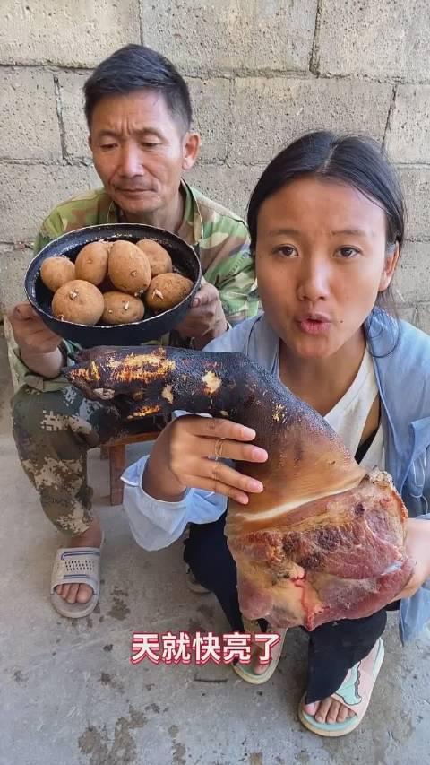 淋可可:腊猪蹄炖土豆