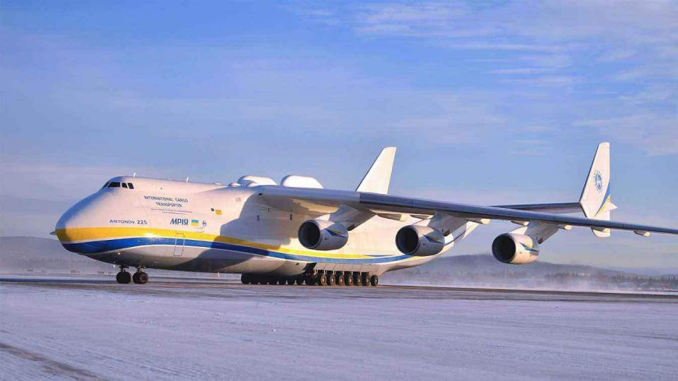 世界上最大的运输机,最大起飞重量达640吨,目前全球仅有一架