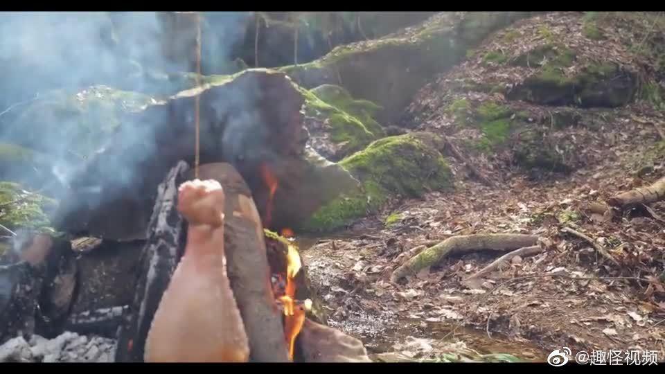 这个大羊腿烤的就问你们香不香!