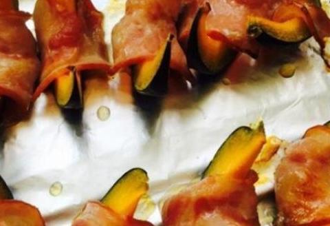 美食精选:南瓜卷培根、葱香腌萝卜条、糖醋脆皮鱼、茶树菇炒豆角