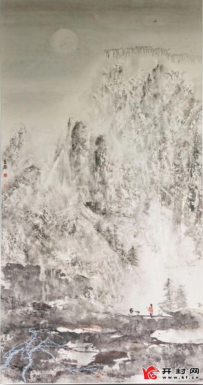 河南国际艺术品保税仓举办《雨墨如烟》——王雨现代山水画展