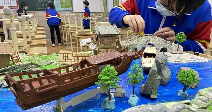 """北京中学生举办""""京杭大运河""""主题设计展"""