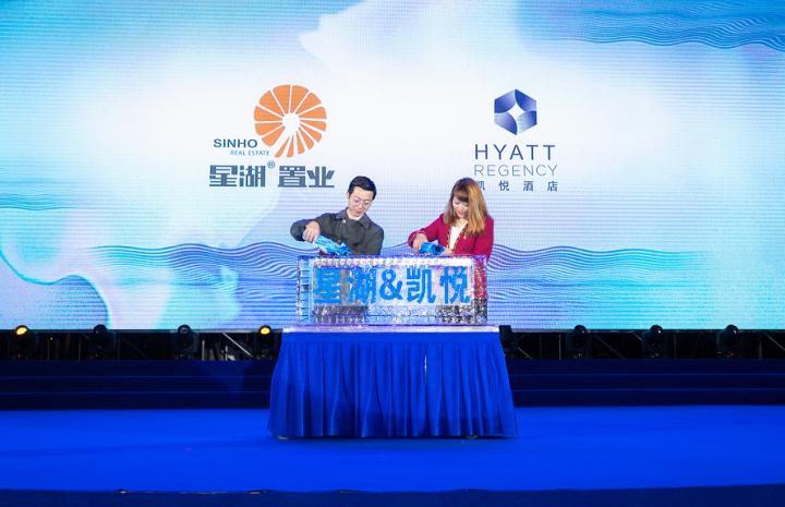 星湖R19023项目案名发布暨凯悦酒店签约仪式隆重举办
