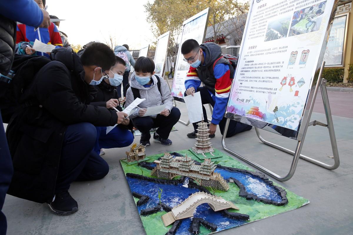 """深入认识""""京杭大运河"""",孩子们自己动手还原运河历史"""