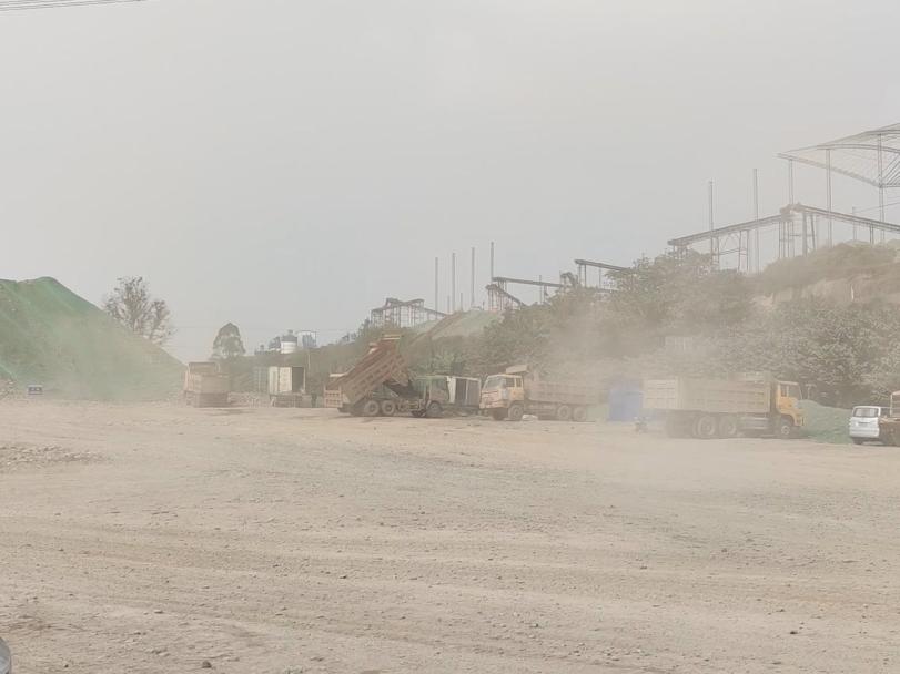 四川省乐山市犍为县重点工程建设扬尘污染严重