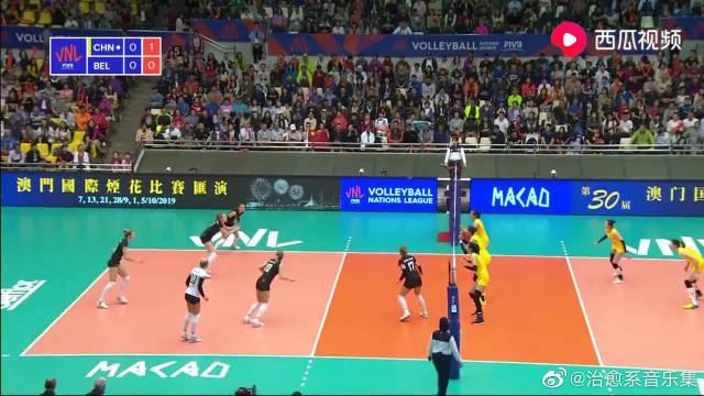 比赛回顾:世界女排联赛VNL,中国女排VS比利时女排HL