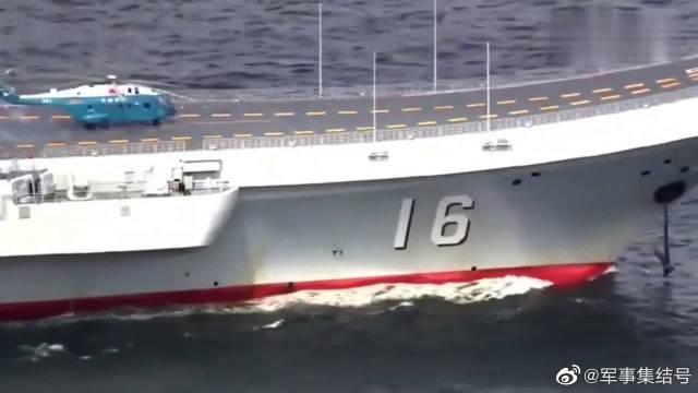 大场面,辽宁号航空母舰和一众带刀护卫!