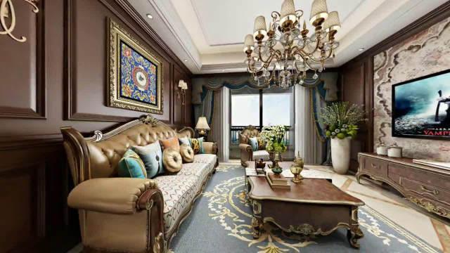 158㎡三室装修,大气的美式风格,装修花了48万,这装修真值