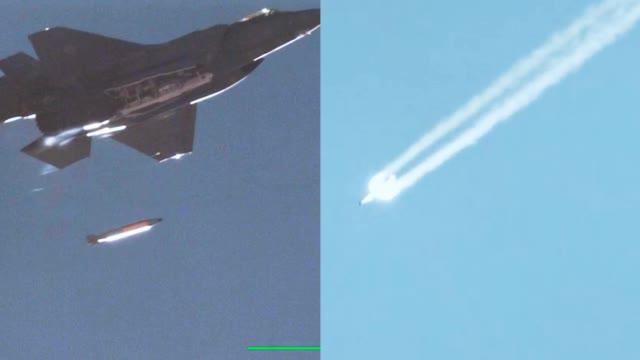 美军首次公布F-35A战机投放B61-12核航弹画面