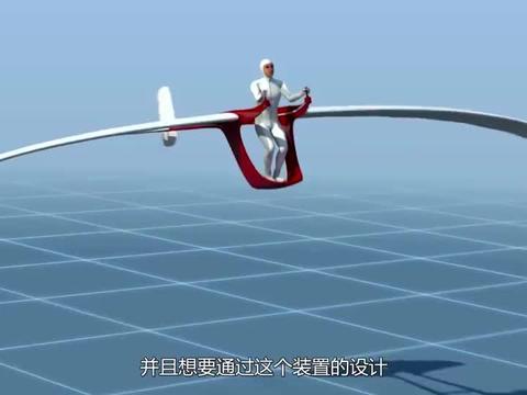 国外大叔发明飞行装置,只要跳一跳就能像鸟儿一样,在天上飞