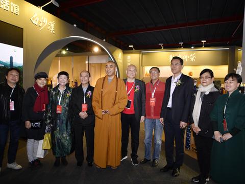 白沙溪安化黑茶盛装参展2020全国(上海)惠明茶禅博览会
