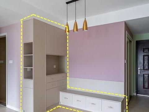 餐边柜+卡座连体式,3㎡的餐厅增加了5㎡收纳,这才叫美观实用