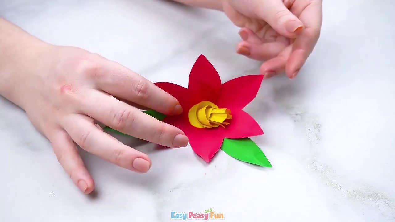 手部精细运动:简单易学的手工花
