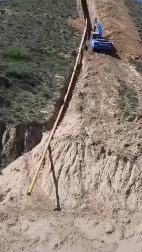 一个敢上,一个敢挖,半山腰拍到这一幕,真是艺高人胆大!