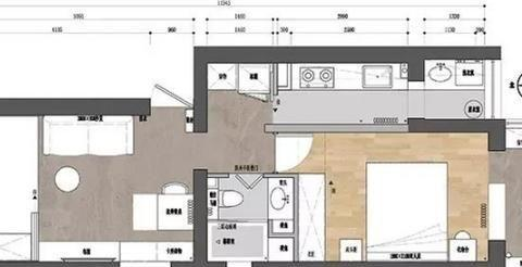62平一居室装修设计案例,阳台改造后,多了一个房间