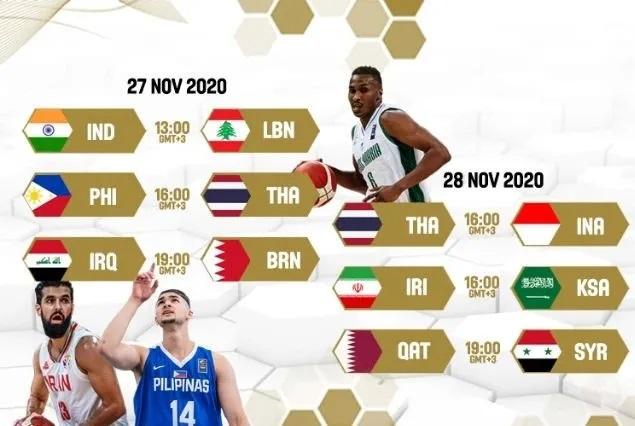 篮球亚预赛赛程公布 中国男篮所在小组比赛暂不进行