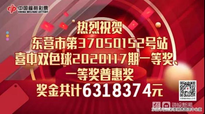 双色球一等奖!东营西城彩友喜中631万元!