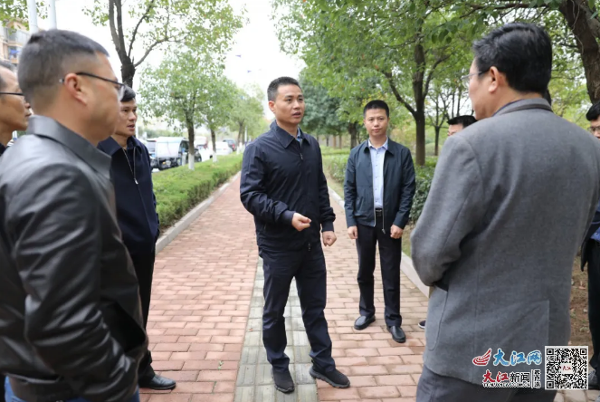 何党生专题调研广信区城市水体治理工作