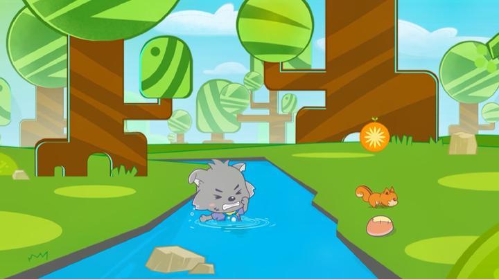 喜羊羊与灰太狼:灰太狼太笨了,为了追小松鼠,自己都掉河里了
