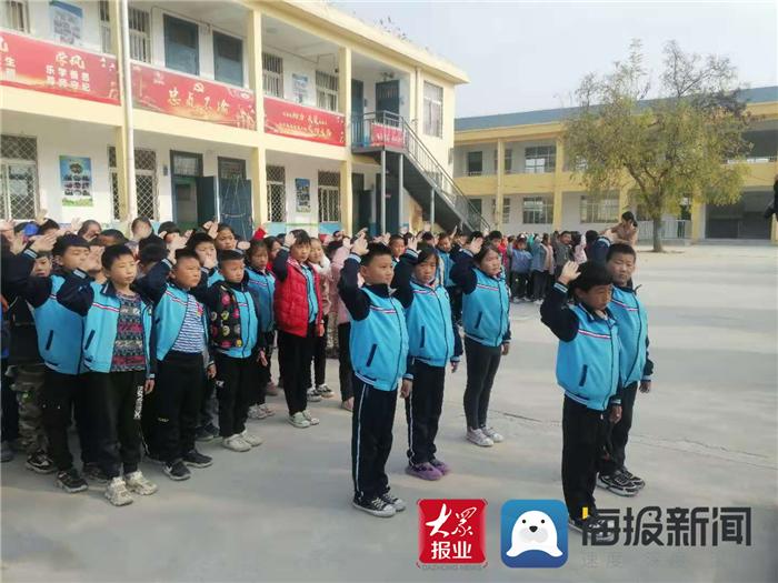 """传承红色基因 黄店完小组织开展""""抗美援朝精神教育""""活动"""