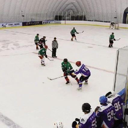 冰球友好城市友谊赛我市挥杆