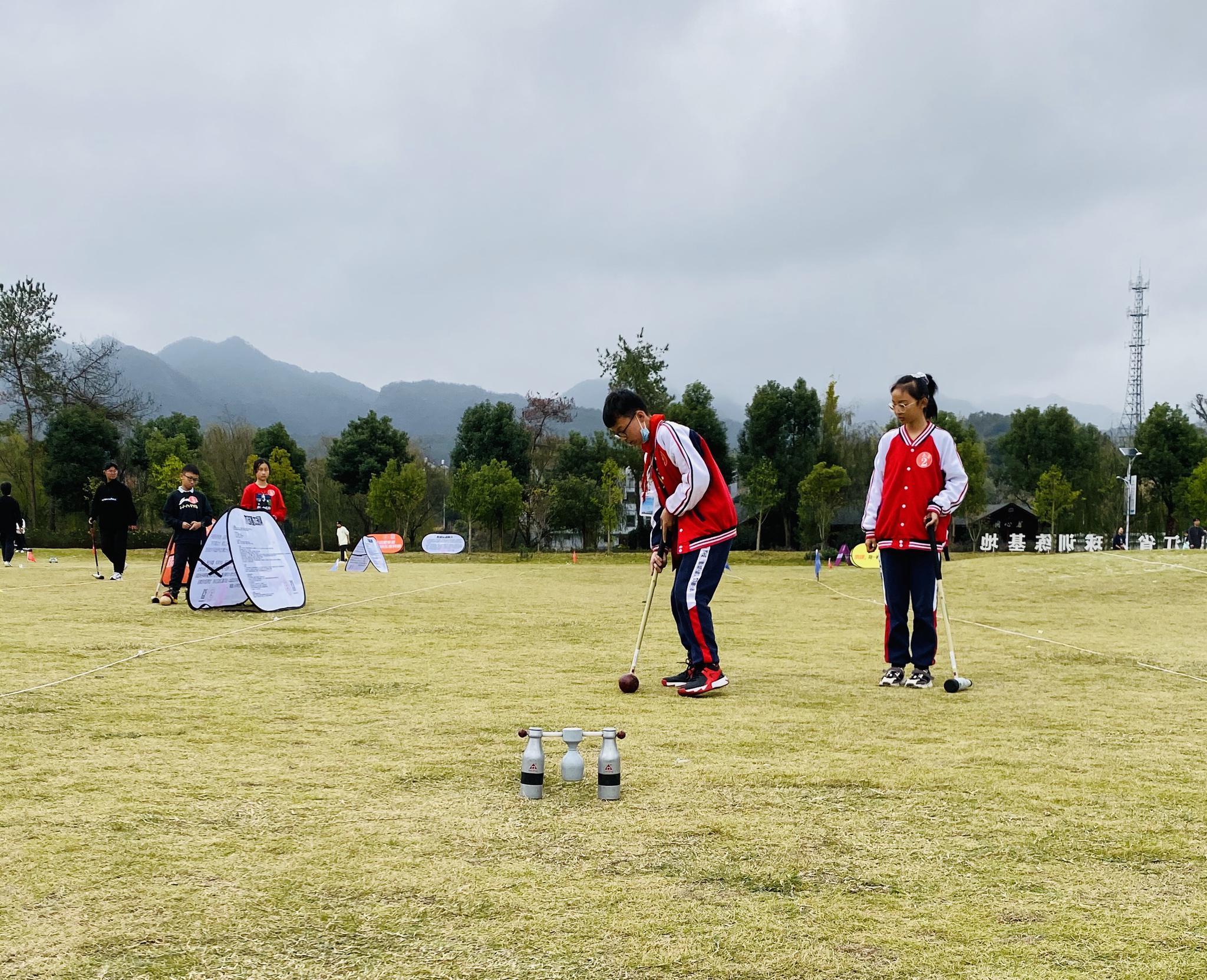 小越街道小学在浙江省木球锦标赛中夺金