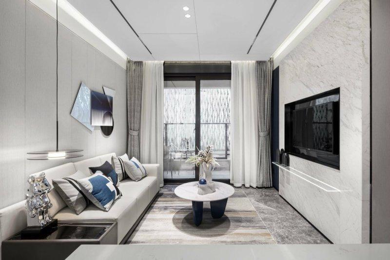 96平米的轻奢风装修,这套三居室简直就是让人宁静的心灵港湾。