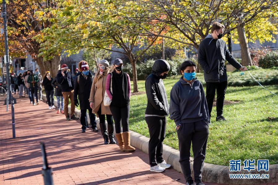 美国华盛顿:排队检测