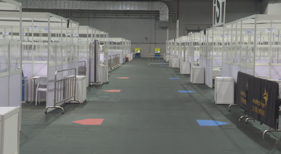 香港医院管理局重启亚洲国际博览馆社区治疗设施 收治新冠肺炎确诊患者