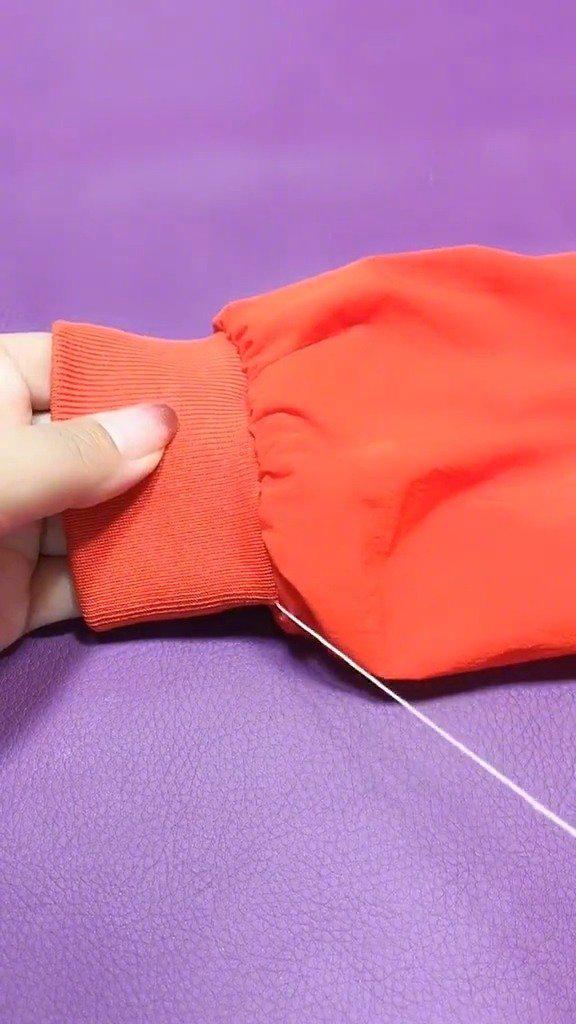 夹扣袖子长,不用剪照样也能做到完美无痕