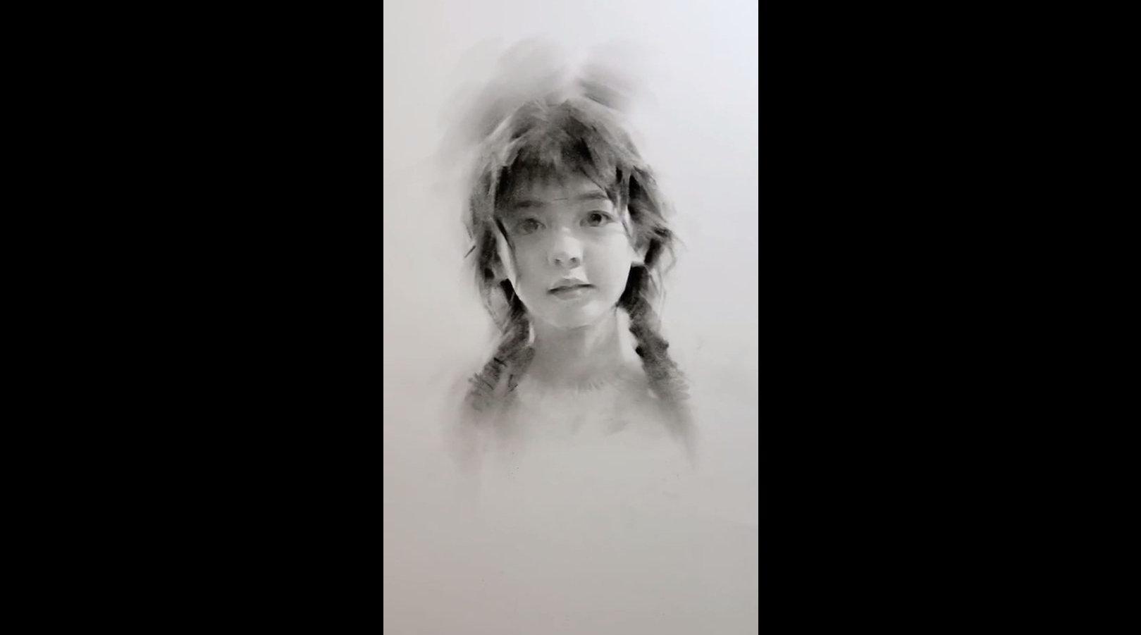 会沦陷啊,少女纯净的眼眸~ 来源:绘画笔迹