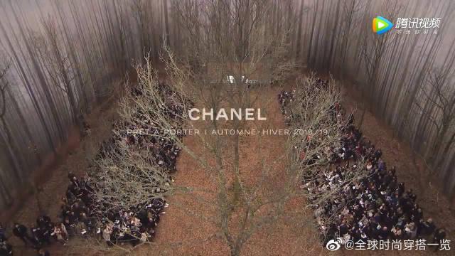 CHANEL2018/19秋冬,时装周大秀,居然将森林搬进巴黎大皇宫!