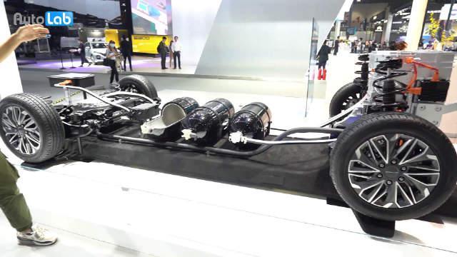 视频:全球首款氢燃料电池车EUNIQ 7亮相广州车展