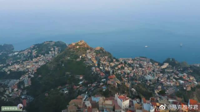 航拍:意大利西西里绝美风景TaorminaSicily……