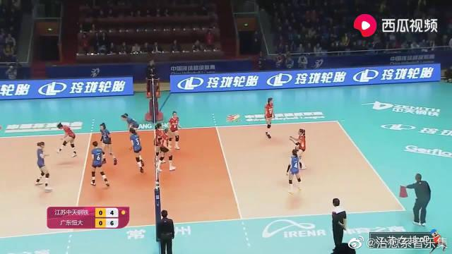排超:江苏女排vs广东女排,队长张常宁个人集锦