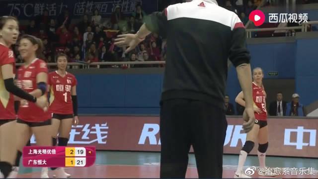 排超半决赛第一回合:上海女排3-1胜广东女排