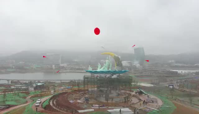 长沙湘江女神公园主体已基本建成……