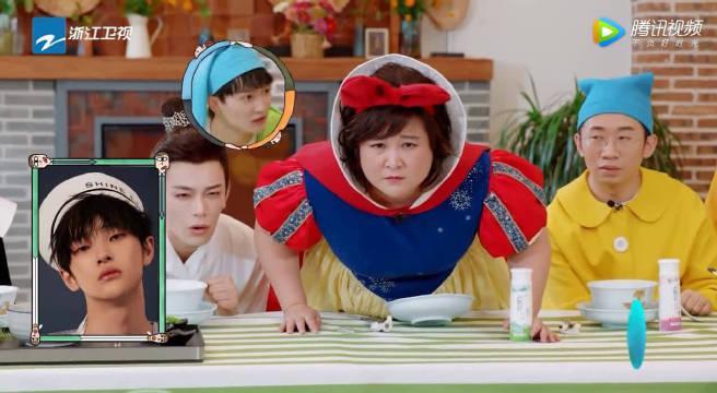 贾玲不认识周震南,吐槽节目组应该找潘长江的照片,逗!
